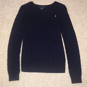 Ralph Lauren Cableknit V-Neck Sweater